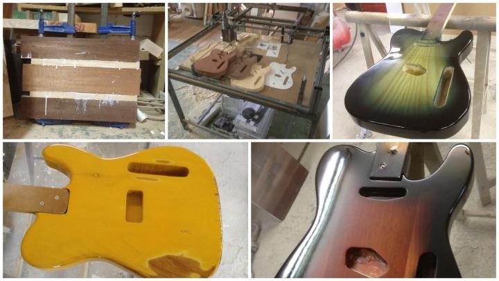 axis carpinteria y diseño cuerpo de guitarra decoración a medida madera noble