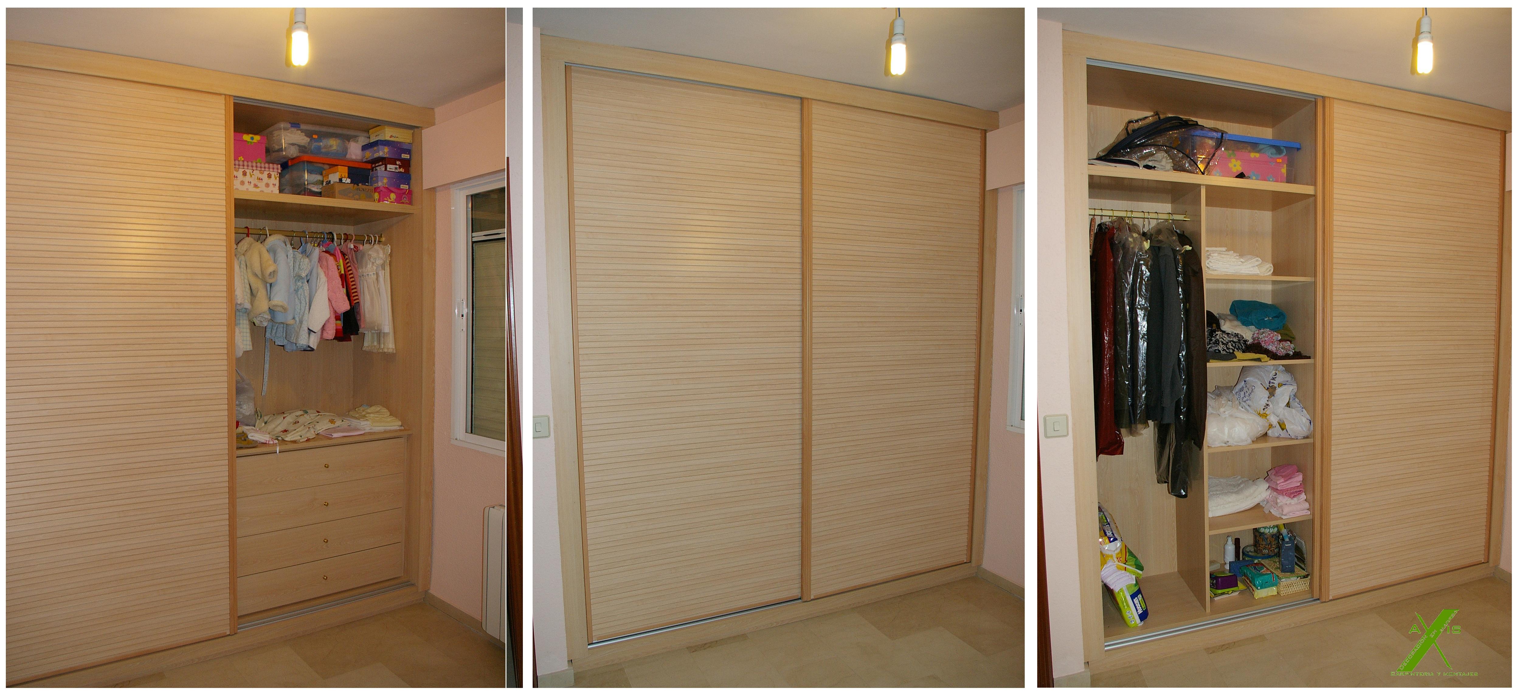 Armarios roperos y empotrados axis carpinter a y dise o for Roperos de madera para dormitorios