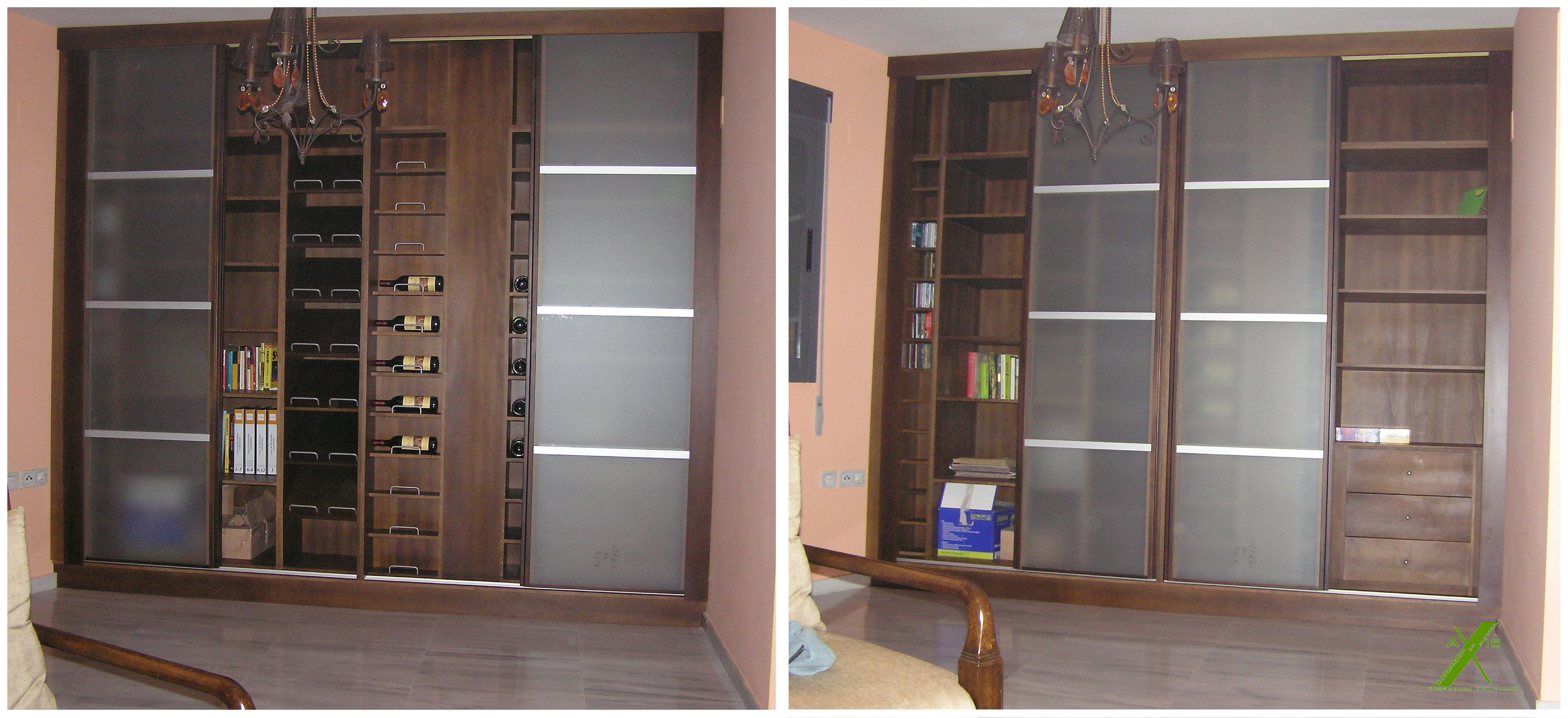 Librer as y muebles de sal n axis carpinter a y dise o - Diseno de muebles a medida ...