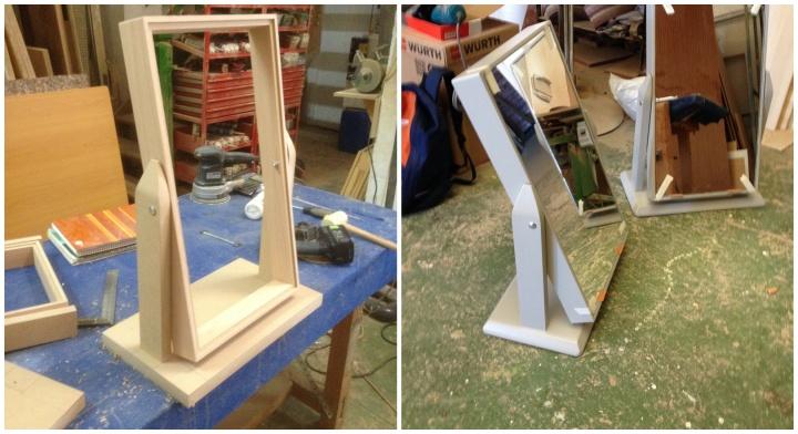 axis carpinteria y diseño espejo para local comercial zapatos badajoz extremadura