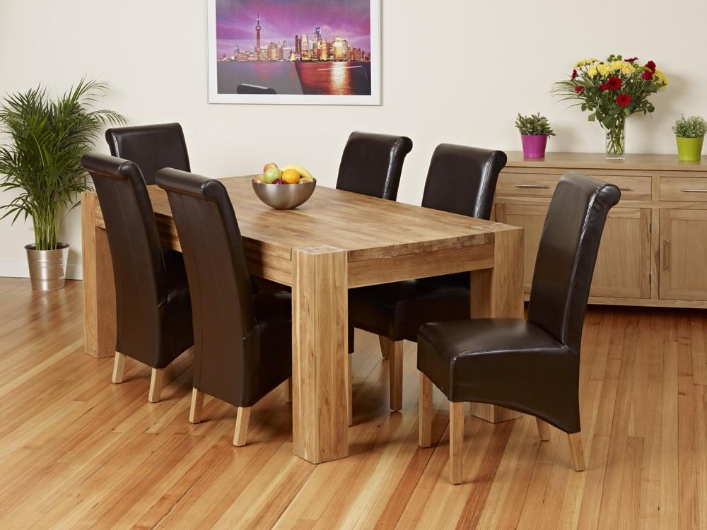 una mesa de madera de roble maciza varios estilos axis