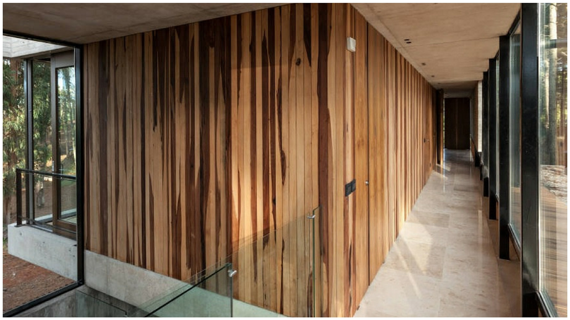 Paredes de madera tendencia axis carpinter a y dise o - Pared de madera interior ...