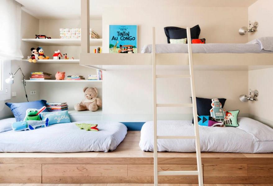 Dormitorios infantiles y juveniles de estilo ecl ctico - Diseno habitacion infantil ...